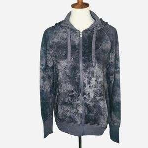 Danskin Soft Hoodie Light Jacket Grey Pockets NEW